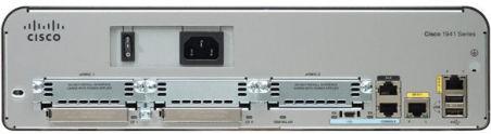Cisco 1941 w/2 GE,2 EHWIC slots,256MB CF,512MB DRAM,IP Base