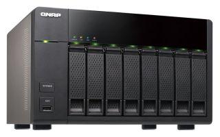 8-Bay TurboNAS, SATA 3G, 2.13G Dual Core, 1G RAM, 2x GbE LAN, USB 3.0