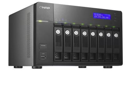 8-Bay TurboNAS, SATA 6G, 2.13G Dual Core, 1G RAM, 2x GbE LAN