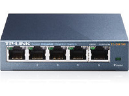 5-port Metal Gigabit Switch, 5 10/100/1000M RJ45 ports, metal case
