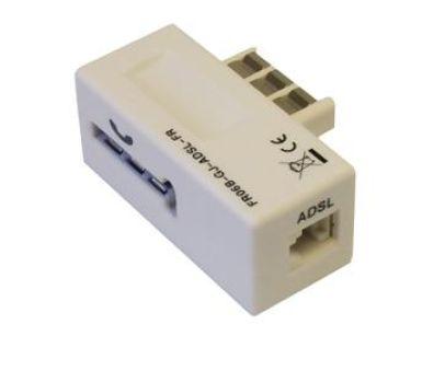 Prise gigogne 6 pôles vers 6/4 filtre ADSL