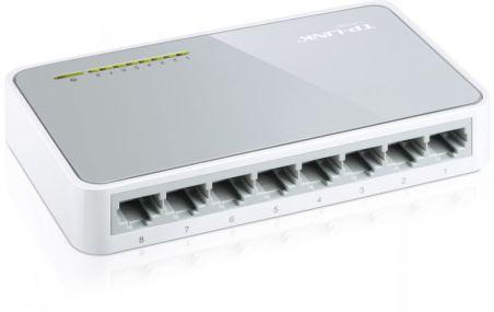 8-port 10/100M mini Desktop Switch, 8 10/100M RJ45 ports